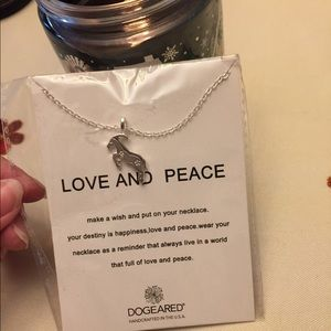 Love and peace boutique necklace